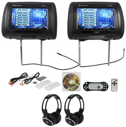 "Rockville RDP931-BK 9"" Black Car DVD/HDMI Headrest Monitor"
