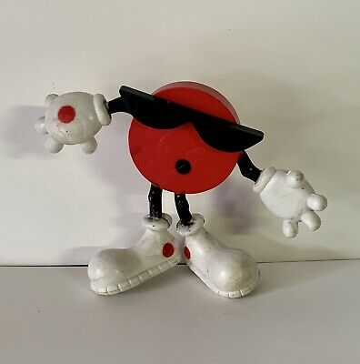 Vintage 7-up COOL SPOT Soda Mascot Bendable Figure 1988 7UP