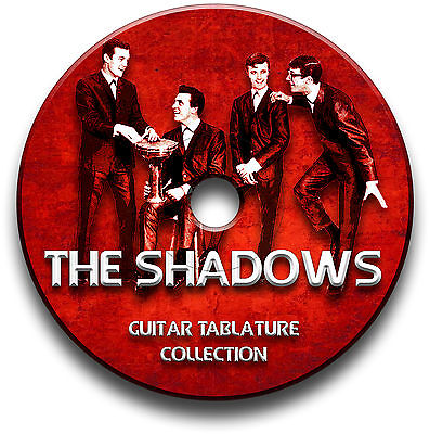 THE SHADOWS & HANK MARVIN GUITAR TAB TABLATURE SONG BOOK SOFTWARE CD