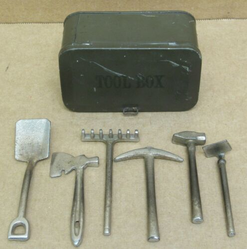Lionel Prewar No. 208 Olive Green Tool Box Set ORIGINAL