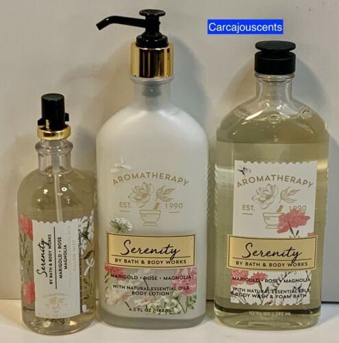 Bath & Body Works Aromatherapy Serenity Body Wash, Body Lotion and Pillow Mist
