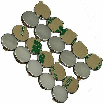 12 X 116 Disc Magnets - Adhesive Backed - Neodymium Rare Earth