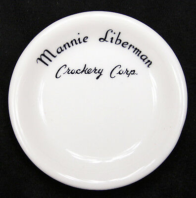 Vintage Tepco China Mannie Liberman Crockery Corp. Butter Pat Plate Advertising