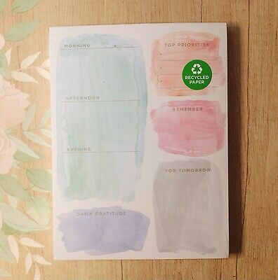 Clementine Paper Inc Daily Planner Chunky Desk Pad Gratitude Checklist Gift