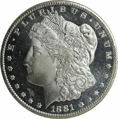 Under Graded Imo   Great 1881 Cc Ms 65 Dmpl Morgan Silver Dollar Ngc