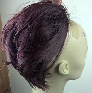 K Michelle Red Hair Bun dark-red-fake-pony-tail-hair-bun-wedding-updo-extension-piece-fancy ...