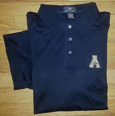 Antigua Shirt Golf Polo Appalachian State Mountaineers XXL Solid Black s2281  Appalachian State Mountaineers Golf