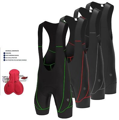 Mens Cycling Bib Shorts Gel Padded Bib Jersey Cycling Tight Shorts -