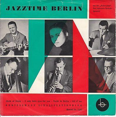 7 45 Johannes-Rediske-Quintett - Jazztime in Berlin RARE Single Jazz
