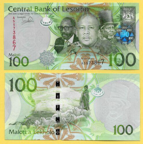 Lesotho 100 Maloti p-24b 2013 UNC Banknote