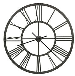 625-684  NEW LARGE WROUGHT IRON GALLERY CLOCK BY HOWARD MILLER JEMMA 625684