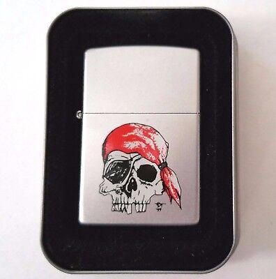 Zippo Lighter Gothic Skulls Tattoo American Hardcore Pirate 2000 New w/ Sleeve