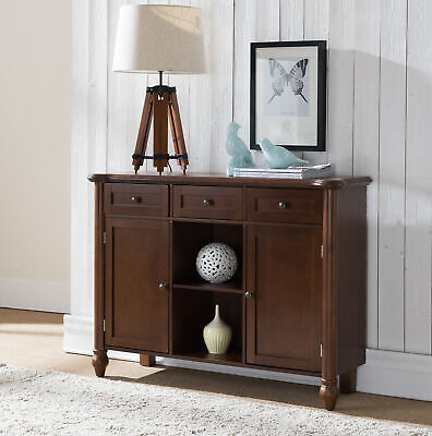 Kings Brand Furniture - Wood Sideboard Buffet Cabinet Console Table, Walnt