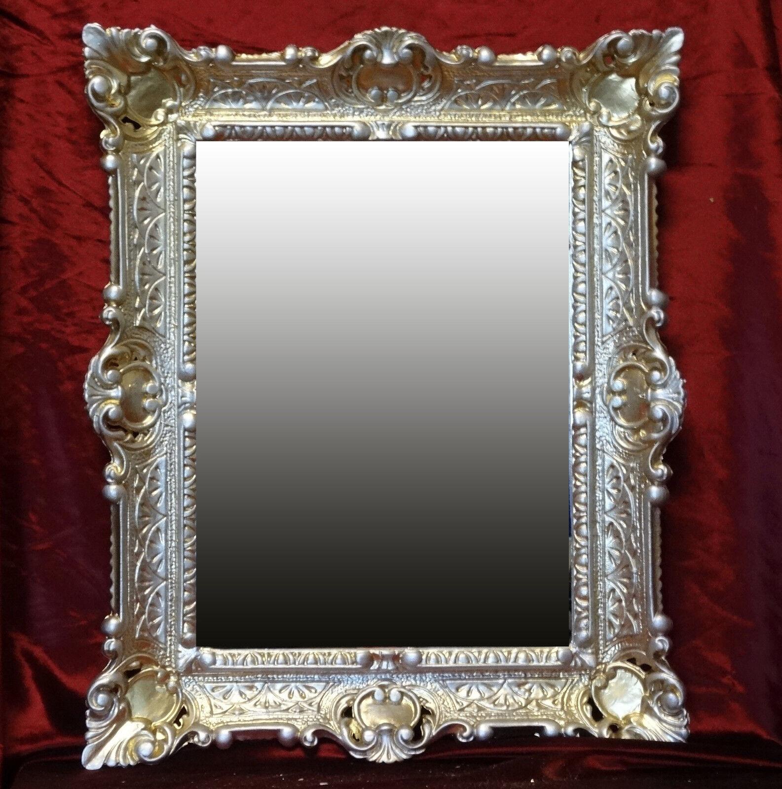 Gold Silber Bilderrahmen Fotorahmen Rahmen mit Glas Barock Antik 30 ...