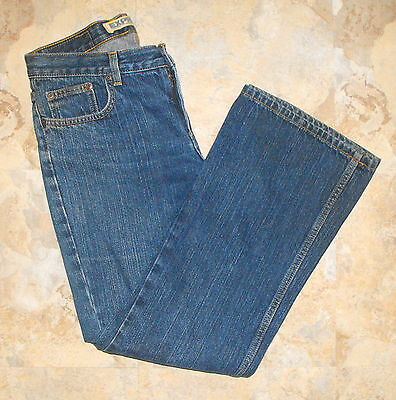Express BLUE Denim Low-rise Relaxed-fit Flared JEANS ~ Size 7/8 Short   31x29 - Low Rise Relaxed Fit Shorts