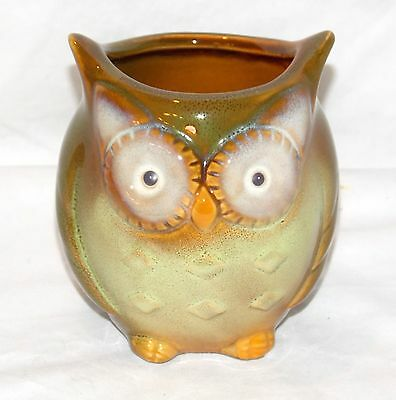 NEW  GREEN BIG EYED OWL PEN HOLDER PLANTER PLANT POT BAMBOO HOLDER MULTI PURPOSE Big Bamboo Plants