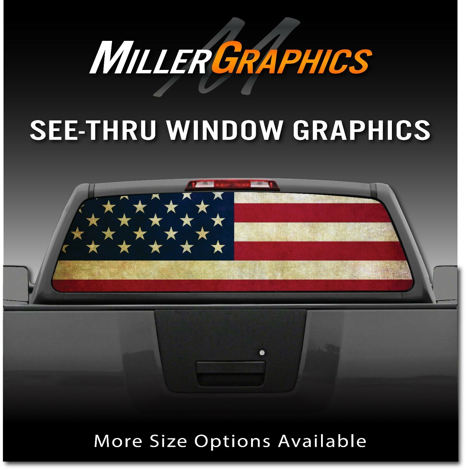333d684744 American Flag Distressed Vintage Rear Window Decal Graphic for Truck ...