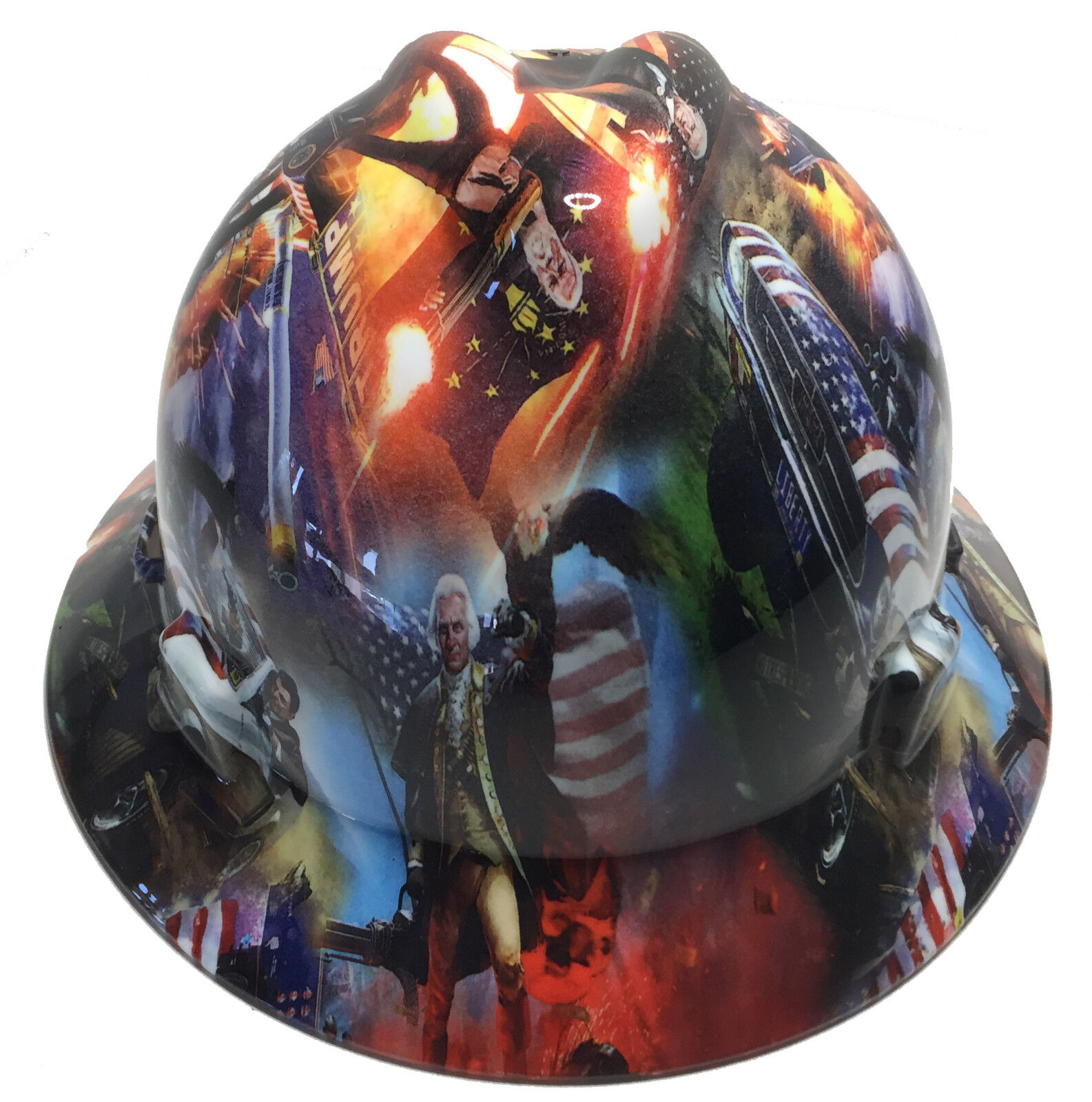 Hydro Dipped Trump Hard Hat MSA Full Brim W/ Free BRB TShirt 1