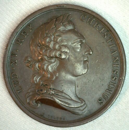 Louis XV 1751 Medal Commemorating Birth of the Country of Future Charles Bronze