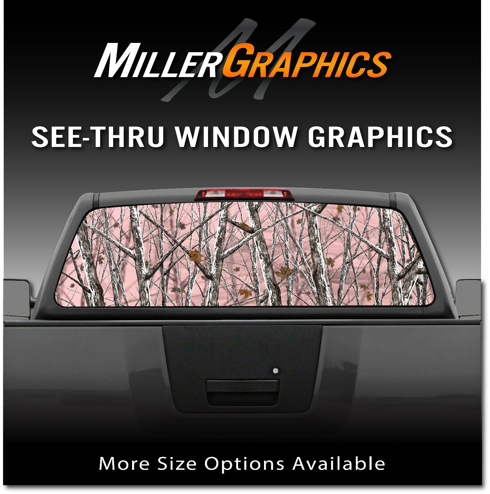 Details about camo pink snowstom rear window decal graphic sticker for truck suv