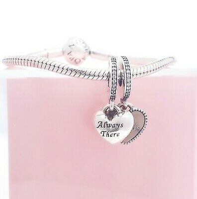 Authentic PANDORA 925 Always There 4 Best Friends Hearts Charm Pendant