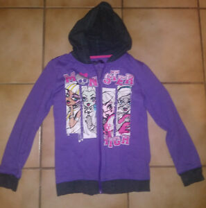 NWT Monster High jacket hoodie zippered large 10, 12, 14