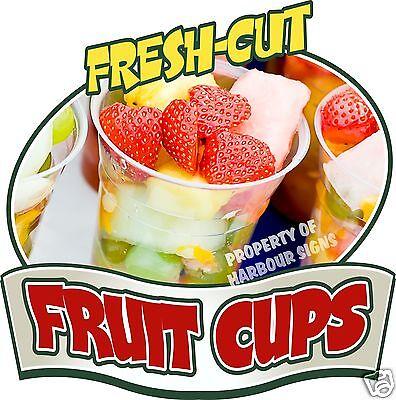 Fruit Cups Decal 14 Concession Market Food Truck Fair Vinyl Menu Sticker