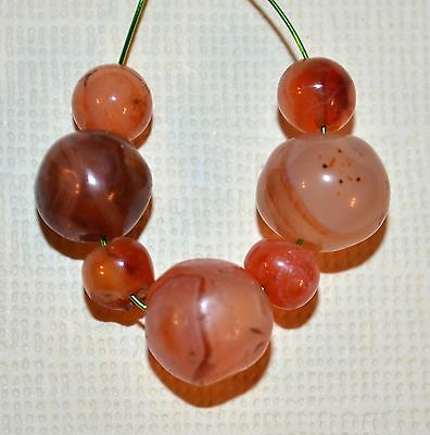 Set Of Excavated Antique Carnelian Stone Beads From Mali, Africa