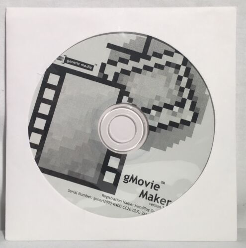 Handspring VISOR gMovie Maker Version 2.0 Generic Media CD-ROM Software