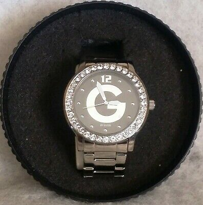 Exc Cond LOVELY Women's GUESS G84027L2 Watch / WR / LOGO DIAL / CRYSTAL ACCENTED Guess Logo Dial Watch
