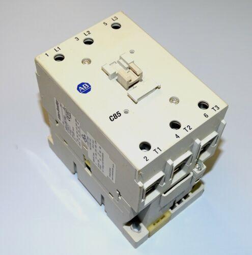 Allen Bradley Contactor, 100-C85*00 Series A, 120 Volt AC coil, 100 Amp, 3-pole