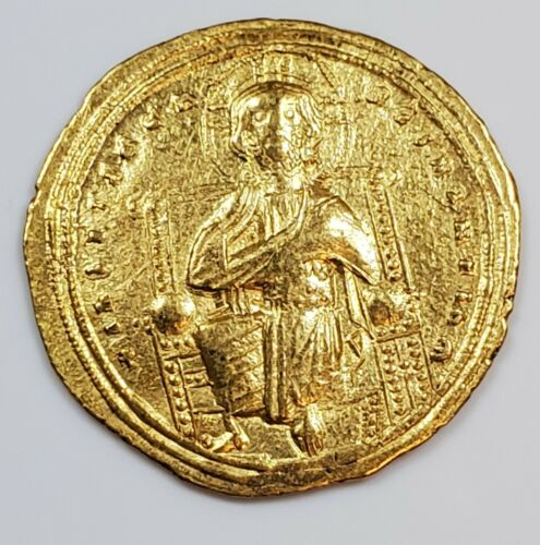 Byzantine Empire Romanus III Argyrus Jesus Christ Ancient Gold Coin 1028-1024 AD