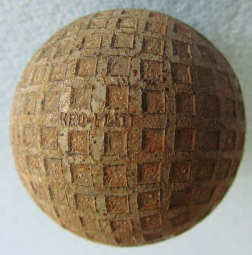 VINTAGE OLD SQUARE MESH GOLF BALL WITH MULTI MARKING-SPALDING KRO-FLITE