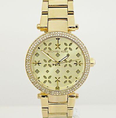 Michael Kors Women's MK6469 Mini Parker 33 mm Floral Cutout Dial Watch