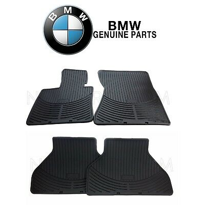 For BMW X5 X6 Front  Rear All Weather Rubber Black Floor Mat Set Genuine