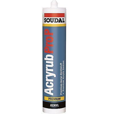 1x 310ml Soudal Acryrub PRO P weiß Maleracryl Acryl Dichtstoff Premium Qualität