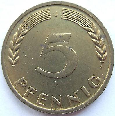 RARITÄT! 5 Pf 1949 J in PP- NUR 250 EXEMPLARE SEHR SELTEN !!!