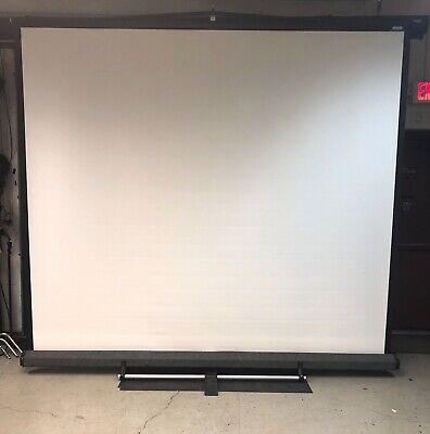 Da-lite 10 X 10 Model C Floor Cradle Screen With Stand 76179 With 78126