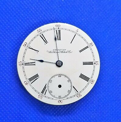 Waltham Pocket Watch Movement. 18s 7j Single Sunk. For Repair / Parts. MW002