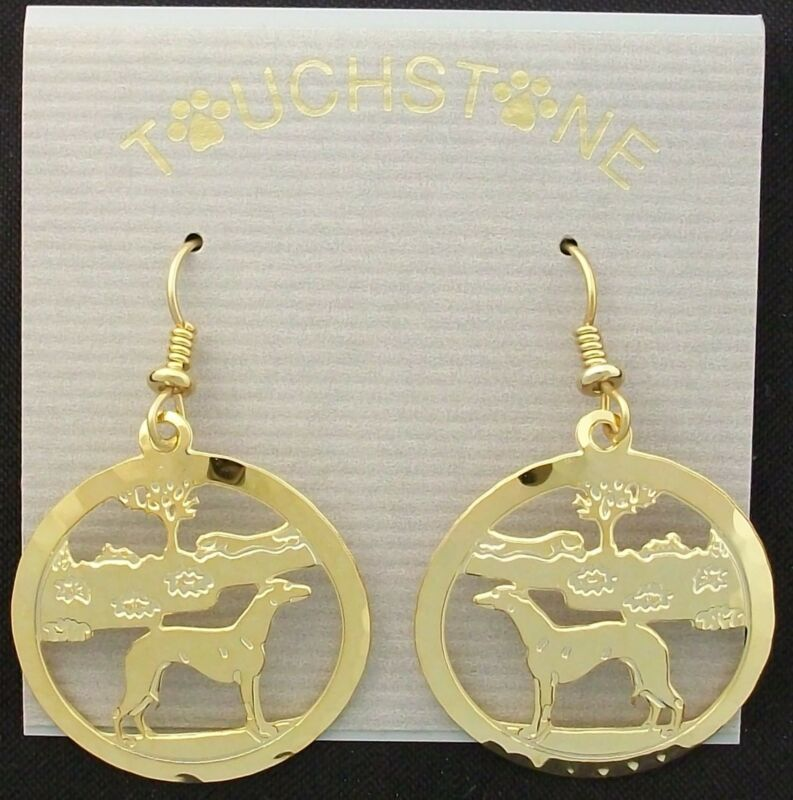 Whippet Jewelry Gold Earrings by Touchstone