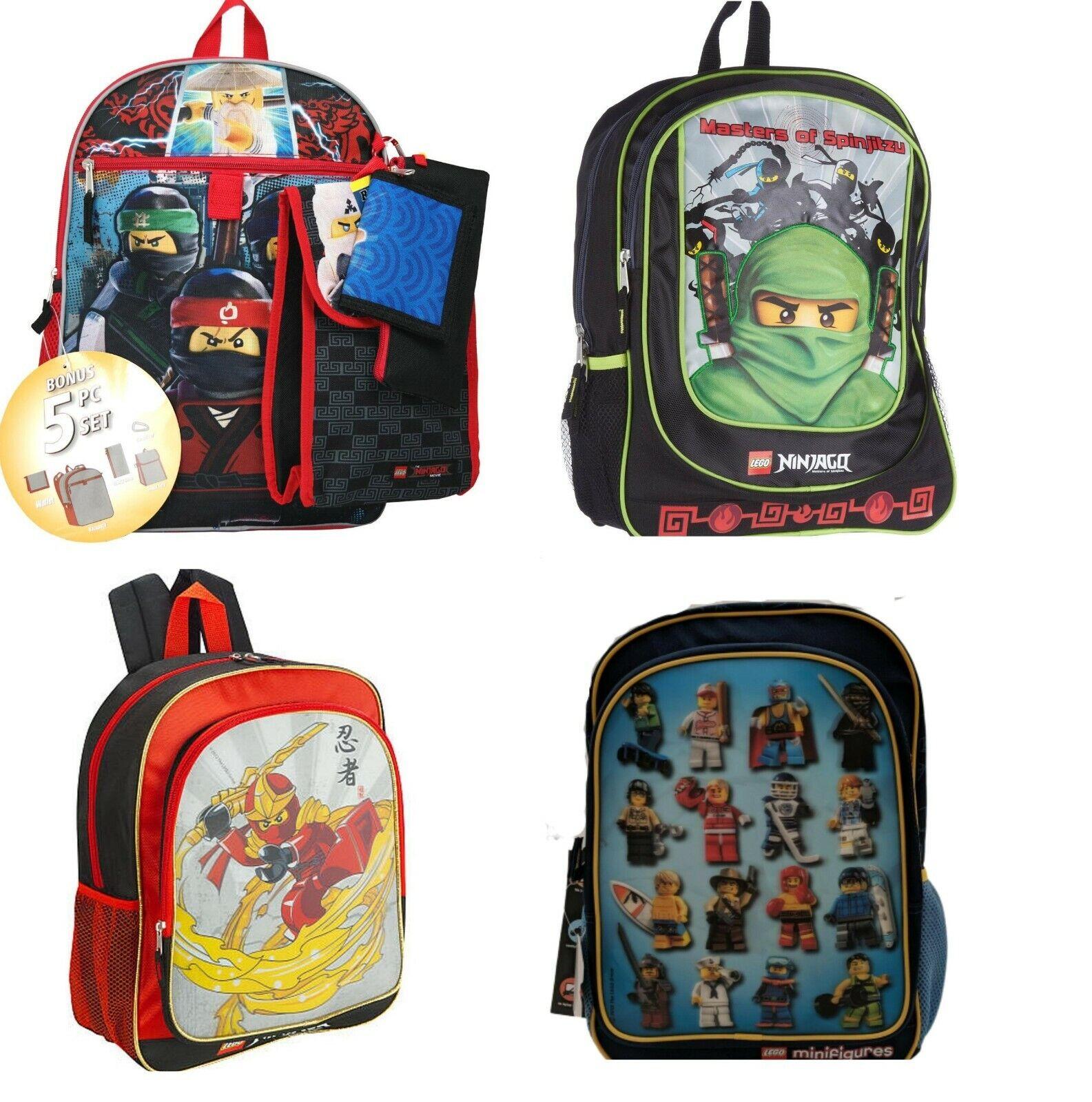 lego ninjago minifigure boys backpack bookbag lunch