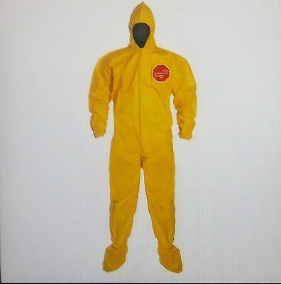 New Dupont Qc122bylxl001200 Tychem 2000 Coverall Bound Seams Xl Yellow