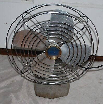 Manning Bowman Edison 1950s Oscillating Table Electric Fan Model #41 works