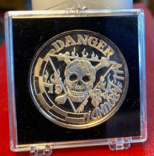 CREWE OF COLUMBUS 1994~.999 Silver Mardi Gras Doubloon~ DANGER ALL AROUND
