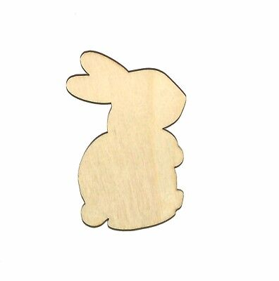 Snuggles Bunny Unfinished Wood Shape Cut Out SR11020 Crafts Lindahl Woodcrafts