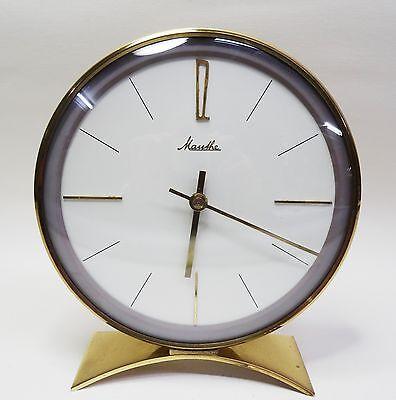 Mechanische hochwertige Mauthe Uhr Tischuhr mit Schlagwerk Messing 60er
