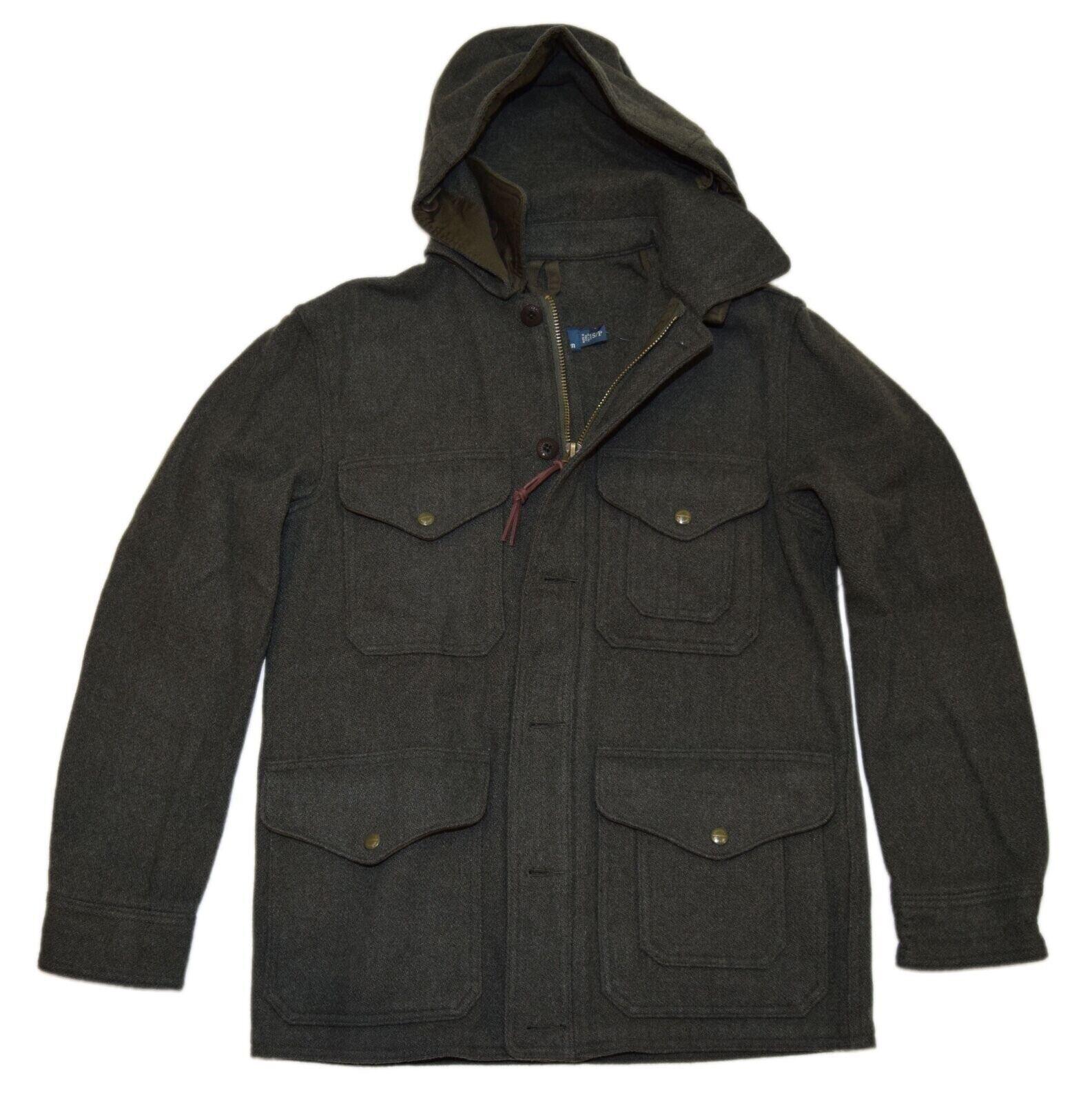 495-polo-ralph-lauren-mens-hooded-parka-cargo-coat-jacket-wool-olive-green-xxl