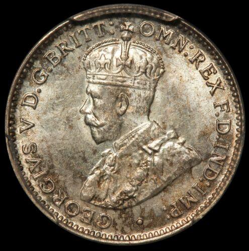 1921-M Australia 3 Three Pence Silver Coin - PCGS MS 64 - KM# 24 - RARE Key Date