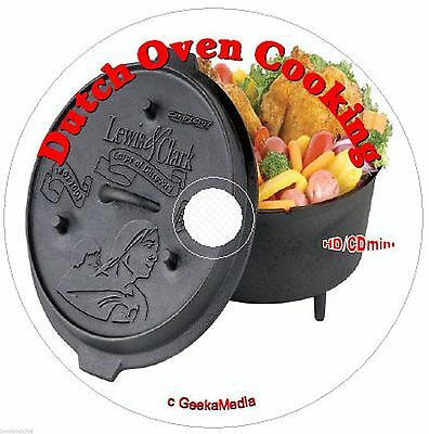 10,000+ Dutch Oven Recipes 25 Cookbook CD cast iron pot camping campfire cooking