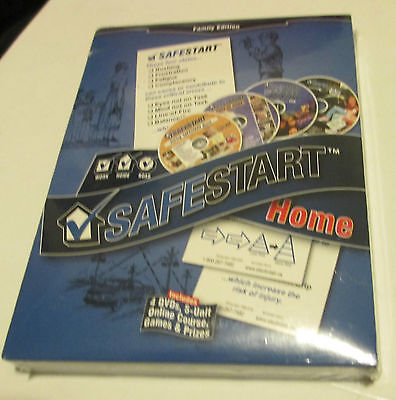 Safestart Home Family Edition   4 Dvd Set  5 Unit Online Course   New